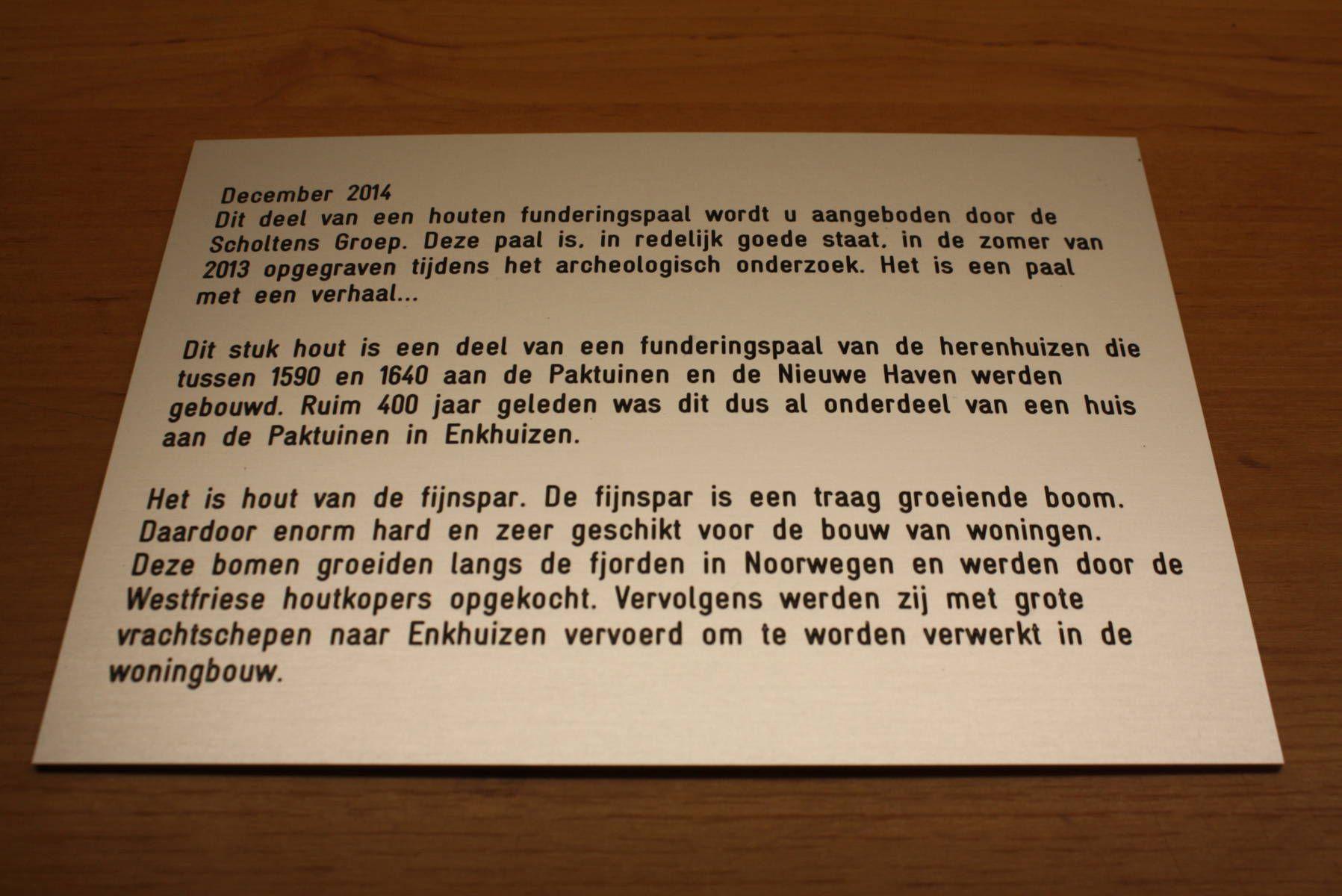 tekst in hout graveren - trespa - informatiebord