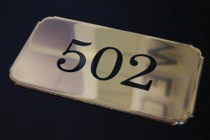 Messing graveren - messing kamernummers
