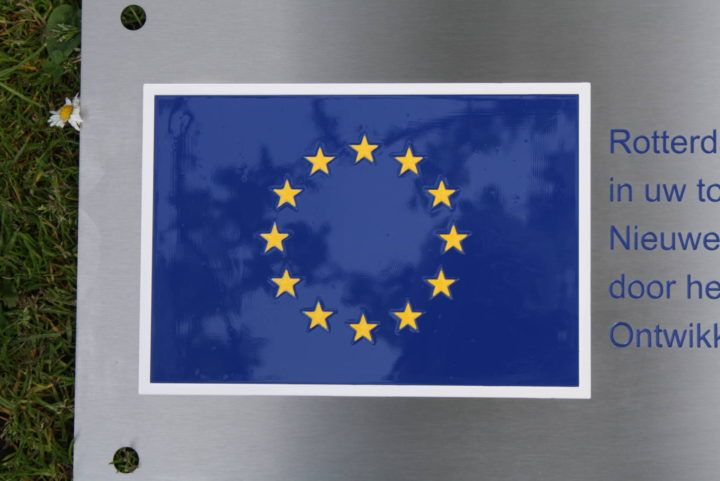RVS graveren - europese vlag