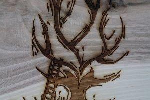 laser graveren - hout - herdenkingsbord