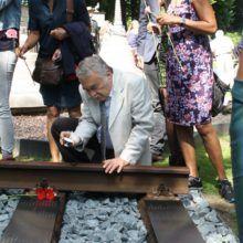 RVS graveren laser graveren gedenkplaat Pakan Baroe Spoorweg