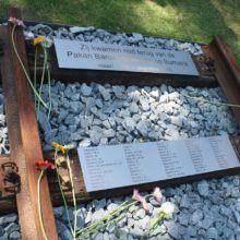 RVS laser graveren gedenkplaat graveren Pakan Baroe Spoorweg