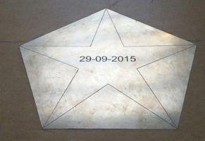 Messing vloerplaat voor school Eindhoven