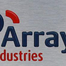 2015 05 RVS typeplaat Lasergraveren Inlakken logo Array industries 1442x400 BJ 220x220 1