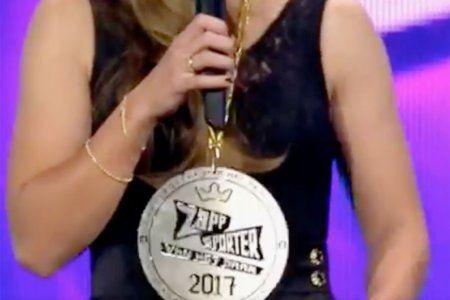 Medaille zappsporter van het jaar 2017 - Lieke Martens - Gravure85