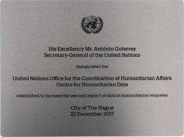 Plaquette voor Verenigde Naties