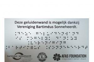 Braille herdenkingsbord: Aluminium