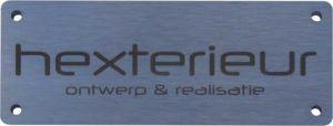 0143 Merklabel RVS laser Hexterieur BJ