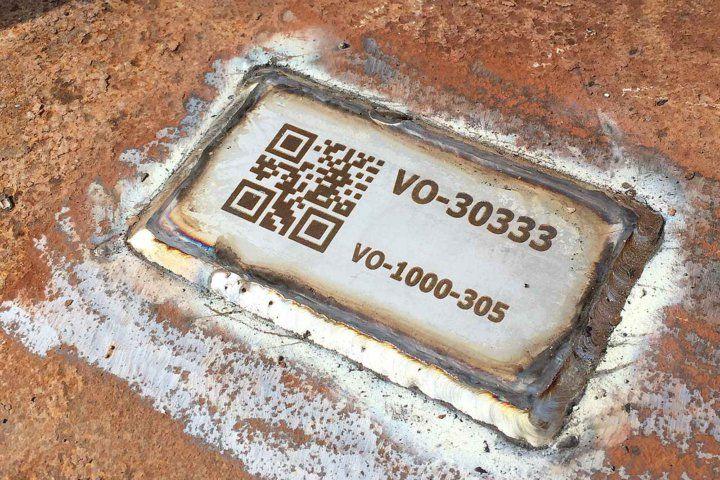 2017 RVS laser QR code van Oord plaat op buis gelast 4252 1600x1066