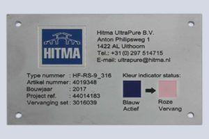 typeplaat - frezen - inlakken - RVS