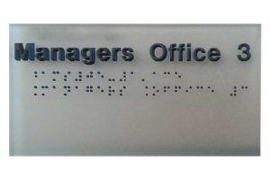 Braille bord
