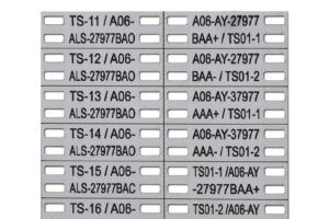RVS nummerplaatjes