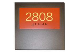 Nummerbord - braille