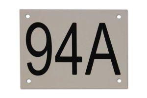Gravoglas - huisnummer