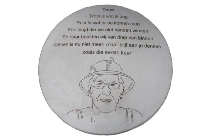 gedenkbord urn