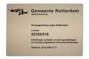 informatiebord - hout graveren - gemeente rotterdam