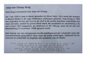Braille Herdenkingsbord: Alubond - print