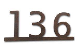 Huisnummer van cortenstaal