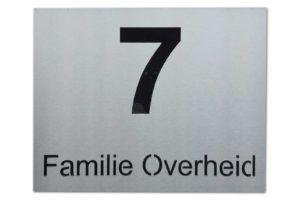 Huisnummer -RVS