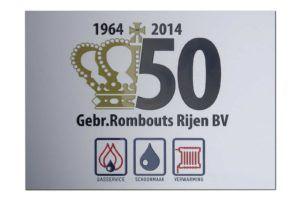 Jubileumbord - Aluminum - Rombouts Rijen