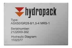 Typeplaatje - Hydropack