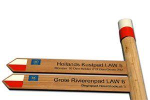 verwijsbord - hout graveren - LAW