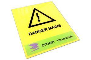 waarschuwingsbord graveren
