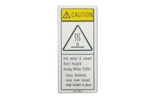 waarschuwingsbord - graveren