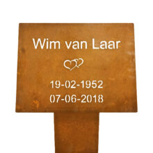 grafmonument cortenstaal
