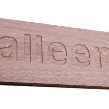 hout - graveren - informatiebord
