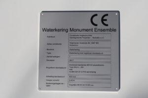 Aluminium - typeplaat - onderdruk